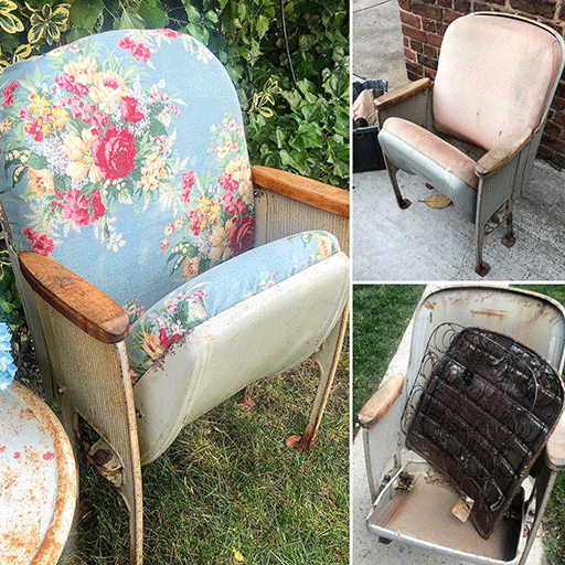 Vintage Theater Chair Makeover